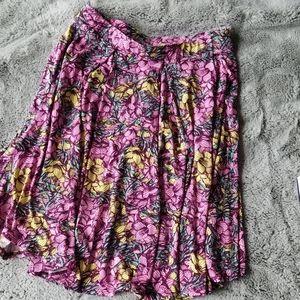 Lularoe Simply Comfortable Pink Flower Skirt